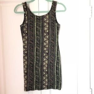 Forever 21 Aztec Tribal Print Bodycon Dress Small